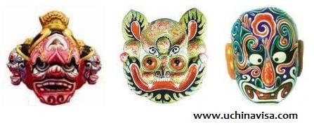 Chinese Masks: Tibet Masks