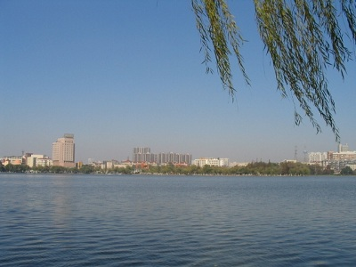 Lake Mochou, Stone City Scenic Area in Nanjing, Jiangsu, China