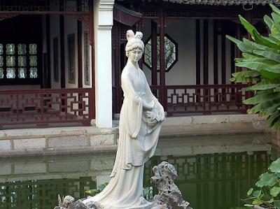 The statue of Mochou in the Lake Mochou, Stone City Scenic Area of Nanjing