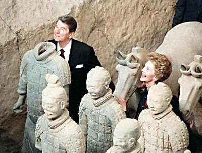 Reagon couple visited Terra Cotta Army in 1984.