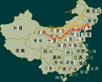 The Great Wall of China Map