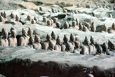 Terra Cotta Army in Xi'an, China